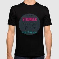 I´m stronger Black MEDIUM Mens Fitted Tee