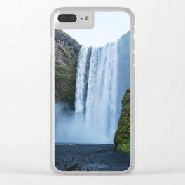 Skogafoss Clear iPhone Case