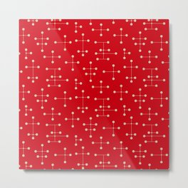 Atomic Era Dots 49 Metal Print