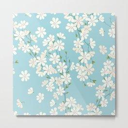Turquoise Bloom Metal Print