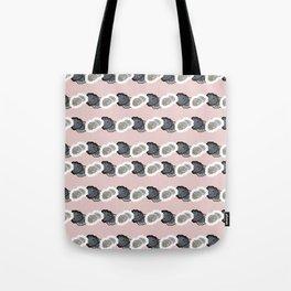 Pink Dottie Stripe Tote Bag