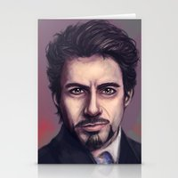 stark Stationery Cards featuring Tony Stark by pandatails