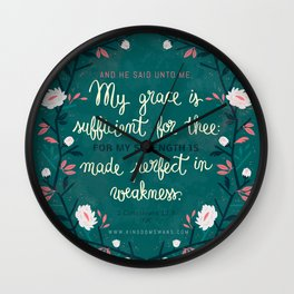 2 Corinthians12:9 Wall Clock