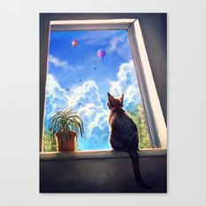 It's a big world out there Canvas Print
