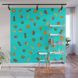 TURQUOISE TROPICAL FRUIT Wall Mural