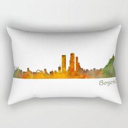 Bogota City Skyline Hq V1 Rectangular Pillow