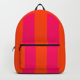 Bright Neon Pink and Orange Vertical Cabana Tent Stripes Backpack