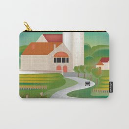 Burgundy, France - Skyline Illustration by Loose Petals Carry-All Pouch