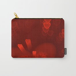 Red Hearts St. Valentine's Galentine's Sweetest Day love Burgundy Bordo Vinous Ruby Garnet Pattern Carry-All Pouch