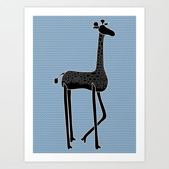 George Giraffe Art Print