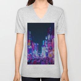 Neon Streets - Neon Tokyo Series Unisex V-Neck