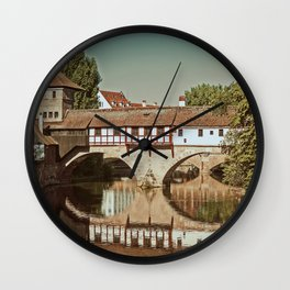 Romantic Nuremberg Wall Clock