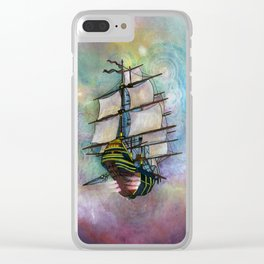 Mike's Tall Ship Clear iPhone Case