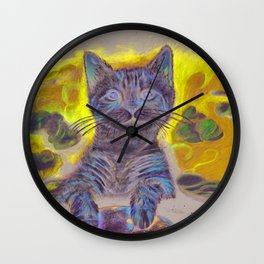 Angel Kitty Wall Clock