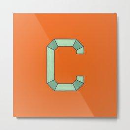 Uppercase C Metal Print