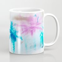 preppy Mugs featuring Preppy Beach by EPART