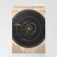 solar system Stationery Cards featuring Solar System by Le petit Archiviste