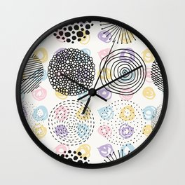 Black and colorful aisles cute modern pattern Wall Clock