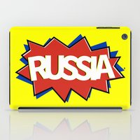 russia iPad Cases featuring Russia by mailboxdisco