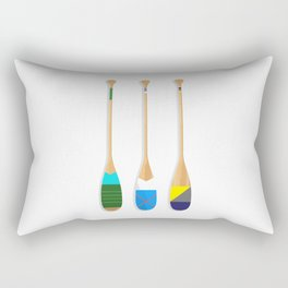 Painted Paddles Rectangular Pillow
