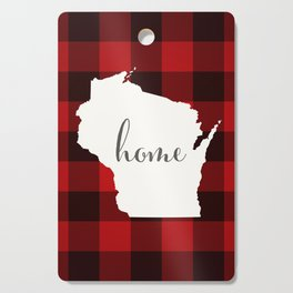 Wisconsin is Home - Buffalo Check Plaid Cutting Board