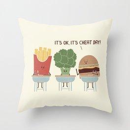 Cheat Day Throw Pillow