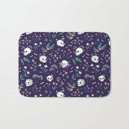 Skull Floral Bath Mat