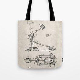 Drum Pedal Patent - Drum Set Art - Antique Tote Bag