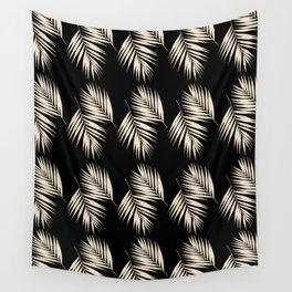 Palm Leaves Pattern #13 #Gold Touch #Black #decor #art #society6 Wall Tapestry