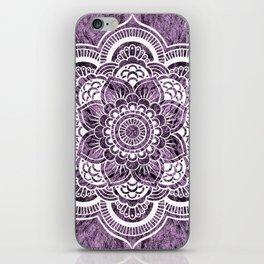 Mandala Grayish Purple Colorburst iPhone Skin
