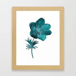 Anemone Watercolor Framed Art Print