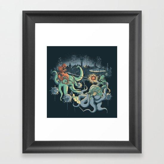 A Midnight Subaquatic Knights Tale Framed Art Print
