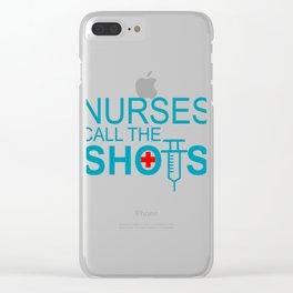 Nurses Call The Shots - Syringe Pun Clear iPhone Case