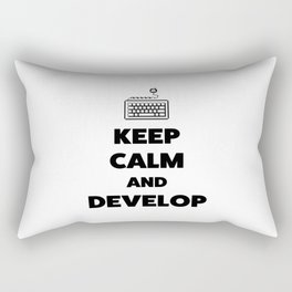 Keep calm and develop Rectangular Pillow