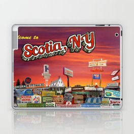 'Welcome To Scotia' Digital Photo Collage made with Macintosh Preview and Microsoft Paint Laptop & iPad Skin