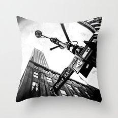West 33rd street Throw Pillow