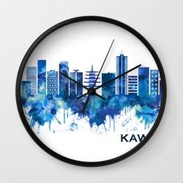 Kawasaki Japan Skyline Blue Wall Clock