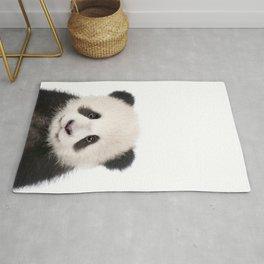 Baby Panda Bear Print by Zouzounio Art Rug