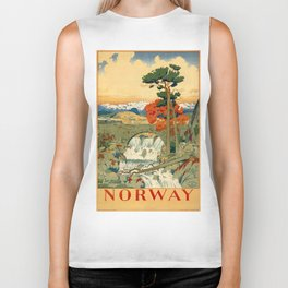 Vintage poster - Norway Biker Tank