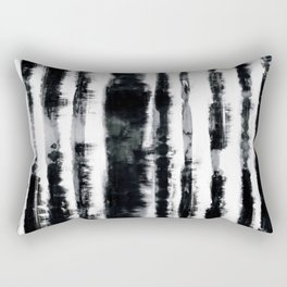 Tie-Dye Shibori Stripe BW Rectangular Pillow