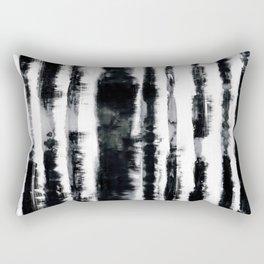 Tie-Dye Shibori Stripe BW Rectangular Pillow