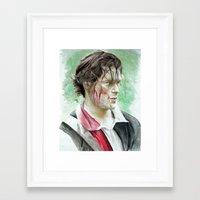 outlander Framed Art Prints featuring James Fraser by Livia Pascu