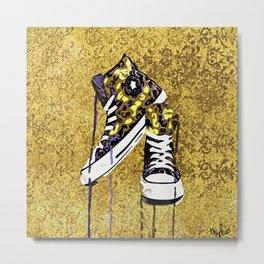 Animal Print Tennis Shoes Take a Walk On The Wild Side Metal Print