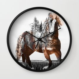 Sunset Rider Wall Clock
