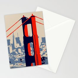 Golden gate bridge vector art Stationery Cards