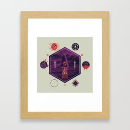 It fell from the stars, It rose from the sea Framed Art Print