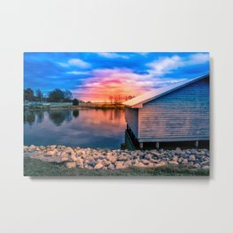Sunset Glow on the Water Metal Print