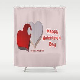 Valentine's Puzzle Shower Curtain