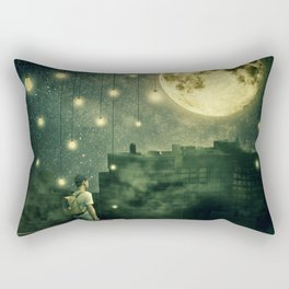 rooftops mystery night Rectangular Pillow