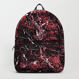 Red Marbled stamp Backpack